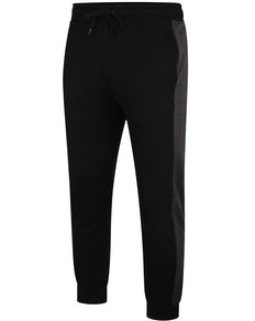 Bigdude Contrast Stripe Joggers Black