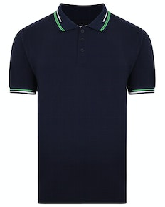 Bigdude Designer Tipped Polo Shirt Navy