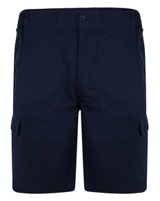 Bigdude Elasticated Waist Cargo Shorts with Zippers Navy