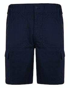 Bigdude Elasticated Waist Cargo Shorts with Zippers Navy