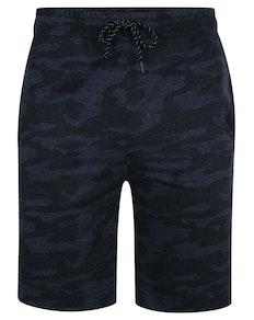 Bigdude Marl Camo Jogger Shorts Navy