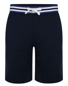 Bigdude Contrast Stripe Waistband Shorts Navy
