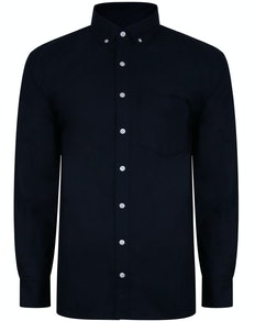 Bigdude Oxford Long Sleeve Shirt Navy