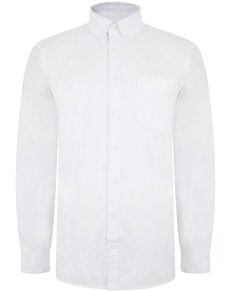 Bigdude Oxford Long Sleeve Shirt White