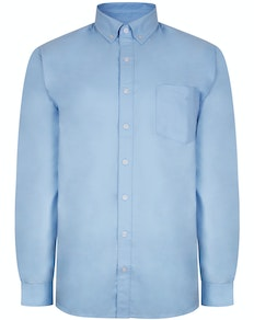 Bigdude Oxford Long Sleeve Shirt Light Blue Tall