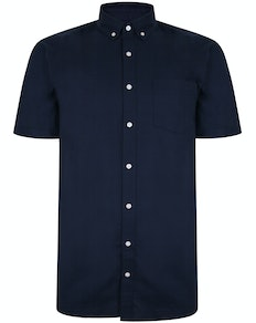 Bigdude Oxford Short Sleeve Shirt Navy Tall