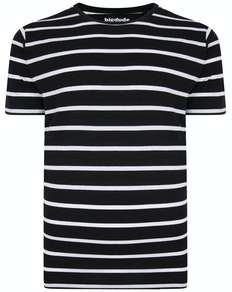 Bigdude Striped T-Shirt Black/White