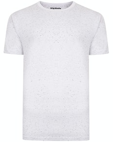 Bigdude Speckled Marl T-Shirt White Tall