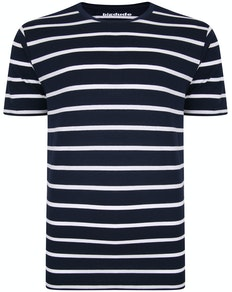 Bigdude Striped T-Shirt Navy/White