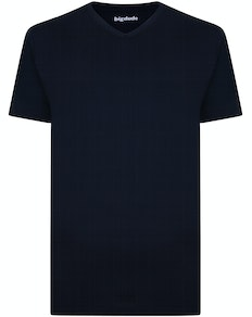 Bigdude Plain V-Neck T-Shirt Navy Tall