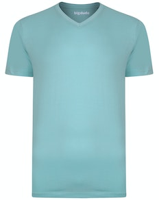 Bigdude Plain V-Neck T-Shirt Turquoise Tall