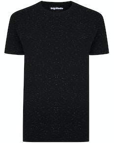 Bigdude Speckled Marl T-Shirt Black Tall