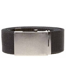 Bigdude Woven Canvas Belt Black