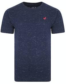 Bigdude Inkjet Marl T-Shirt Navy