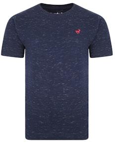 Bigdude Inkjet Marl T-Shirt Navy Tall