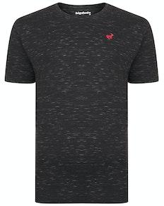 Bigdude Inkjet Marl T-Shirt Black