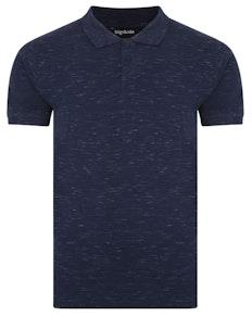 Bigdude Inkjet Marl Polo Shirt Navy