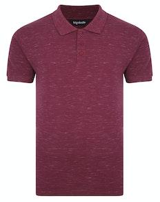 Bigdude Inkjet Marl Polo Shirt Burgundy