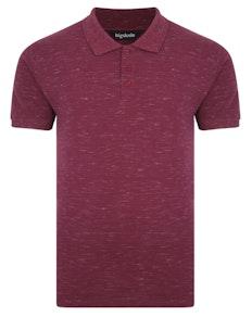 Bigdude Inkjet Marl Polo Shirt Burgundy Tall