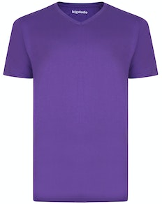 Bigdude Plain V-Neck T-Shirt Purple Tall