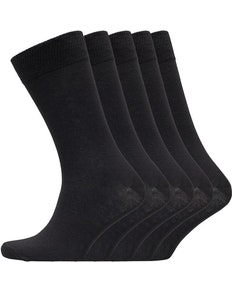 Bench Fred 5 Pack Assorted Socks Black