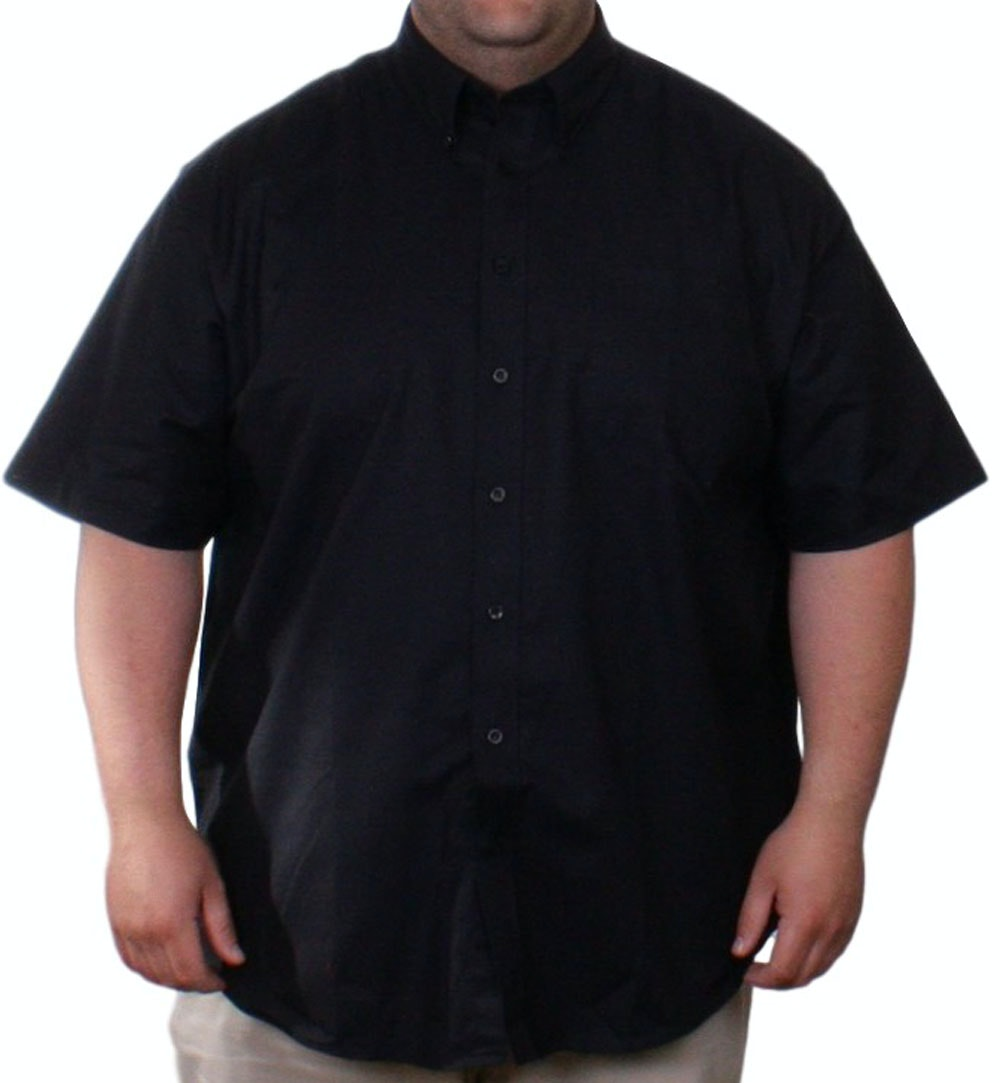 Fruit of the Loom Black Oxford Shirt