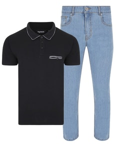 Bigdude Polo Shirt & Jeans Bundle 4