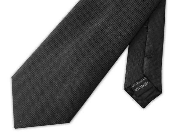 Knightsbridge Extra Long Micro Grid Tie Black
