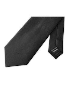 Knightsbridge Extra Long Micro Grid Tie Black