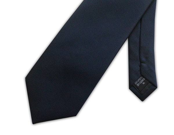 Knightsbridge Extra Long Micro Grid Tie Navy