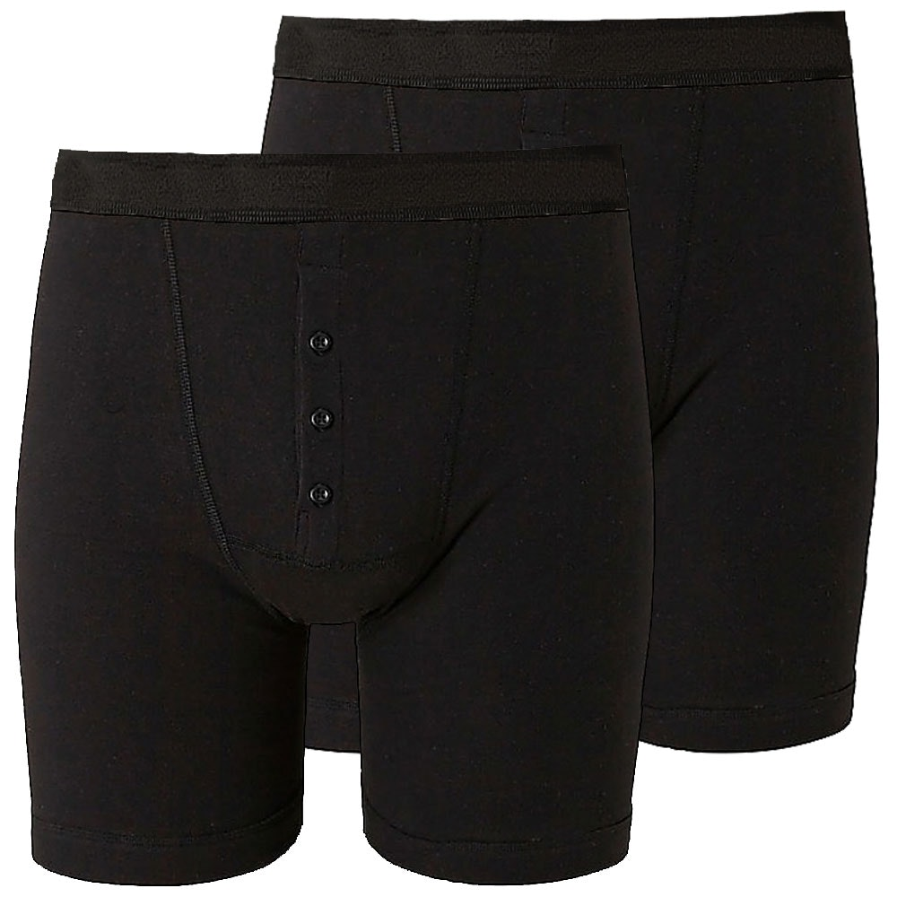Bigdude 2 Pack Boxer Shorts Black