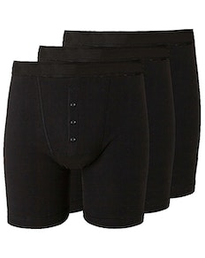 Bigdude 3 Pack Boxer Shorts Black