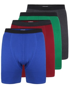 Bigdude 4 Pack Jersey Knitted Boxer Shorts Assorted
