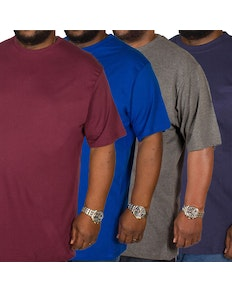 Bigdude Plain Crew Neck T-Shirt 4 Pack