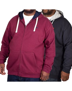 Bigdude Fleece Full Zip Hoody Twin Pack Burgundy/Navy
