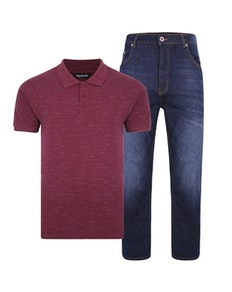 Bigdude Polo Shirt & Jeans Bundle 2