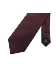 Knightsbridge Extra Long Micro Grid Tie Burgundy