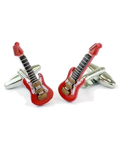 Sophos Electric Guitar Cufflinks Red