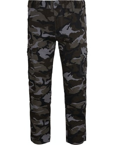 Bigdude Camo Cargo Trousers Grey