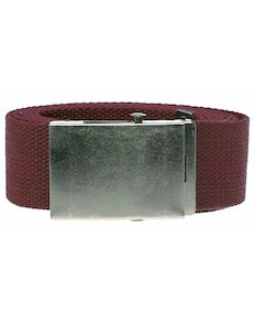 Bigdude Woven Canvas Belt Burgundy