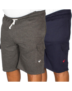 Bigdude Fleece Cargo Shorts Twin Pack Charcoal/Navy