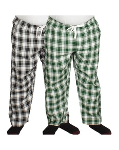 Bigdude Check Lounge Pants Twin Pack Black/Green