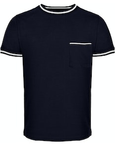 Bigdude Contrast Edge T-Shirt Navy Tall