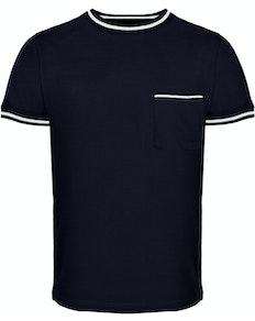 Bigdude Contrast Edge T-Shirt Navy Tall