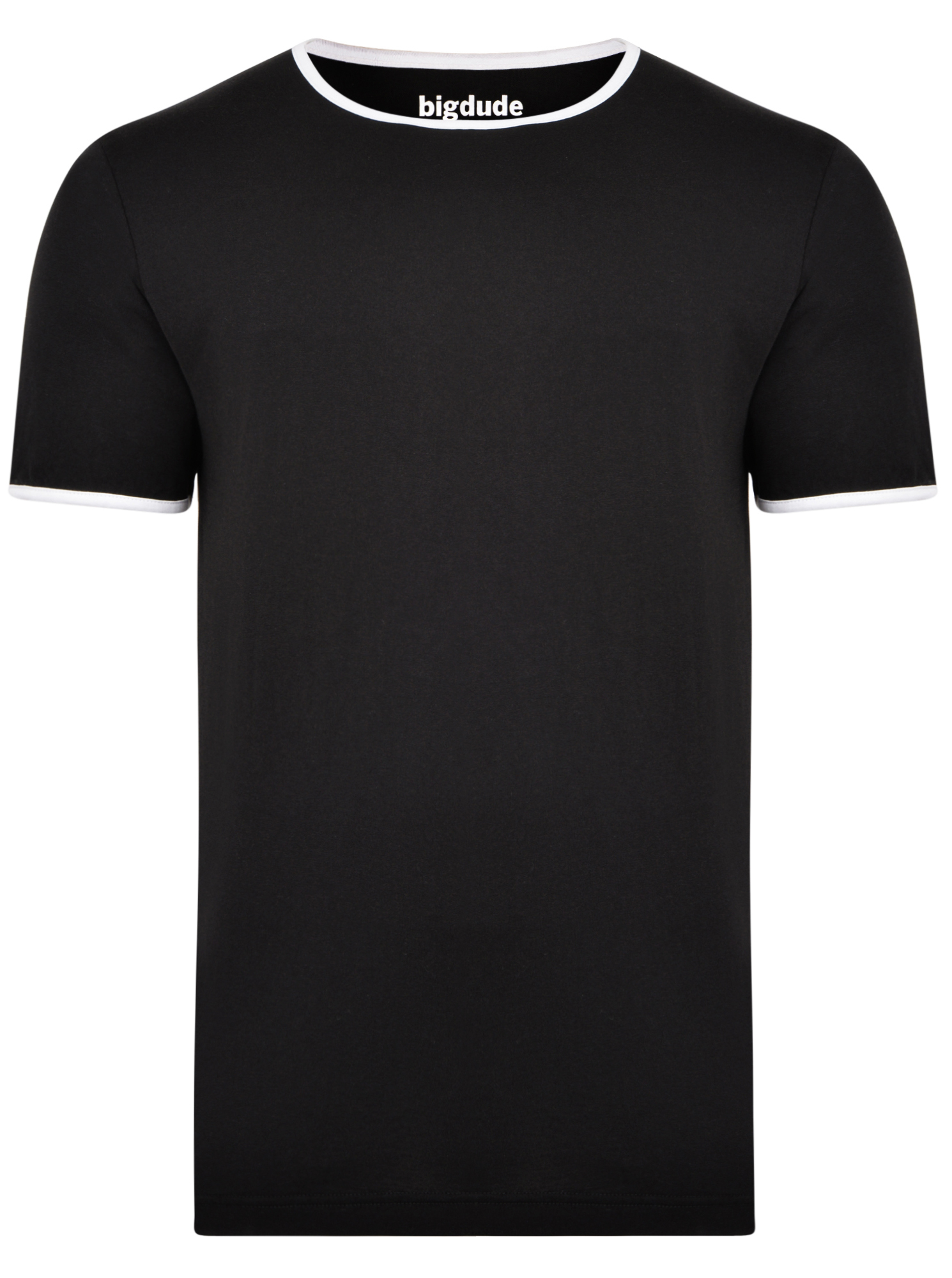 Men/'s Big /& Tall Port /& Co Cotton  Long Sleeve Crew Neck Tee Shirt 5X Black