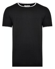 Bigdude Contrast Ringer T-Shirt Black