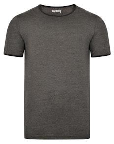 Bigdude Contrast Ringer T-Shirt Charcoal Tall
