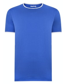 Bigdude Contrast Ringer T-Shirt Royal Blue Tall