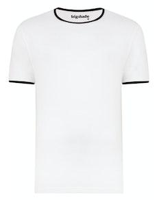 Bigdude Contrast Ringer T-Shirt White