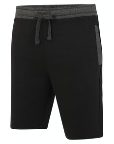 Bigdude Contrast Sweat Shorts Black